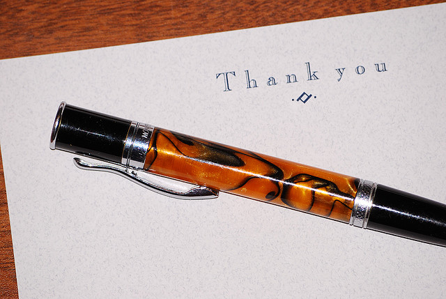 Thank You For Blogging
